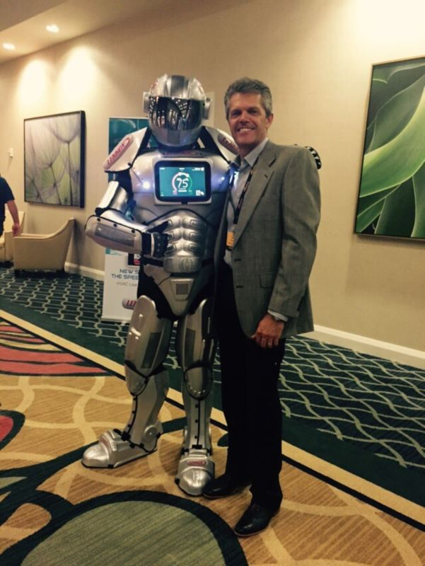 Peter with Lennox Robot